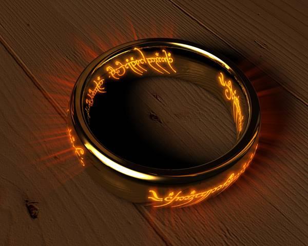 怪しい光を放つ指輪のかっこいい写真壁紙画像
