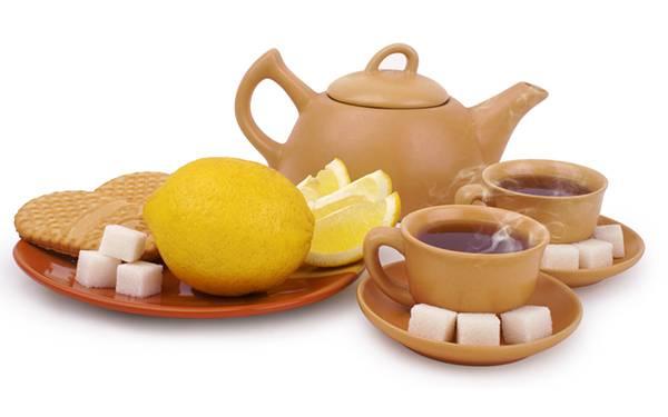12.レモンやクッキーと紅茶のセットを撮影した写真壁紙画像
