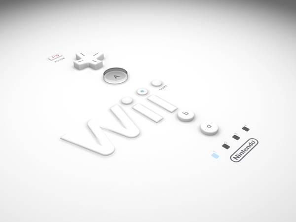 Wiiコントローラーのボタンをデザインしたかっこいい壁紙画像