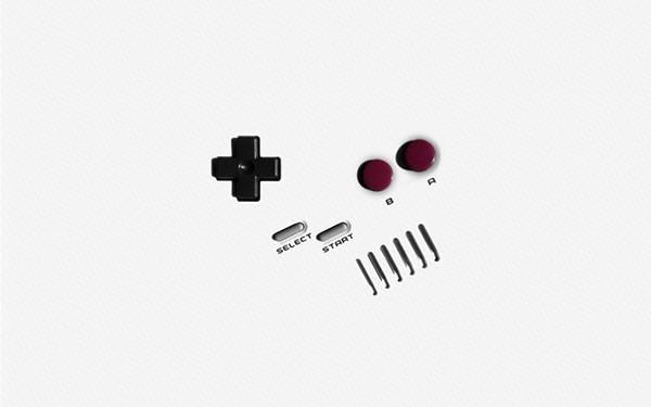ゲームボーイのボタンをデザインしたシンプルな写真壁紙画像
