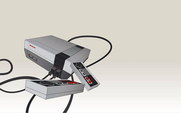 Nintendoのゲーム機をデザインしたクールなイラスト壁紙画像