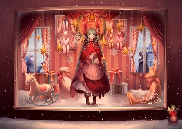 初音ミクのボカロ曲「マッチうりの聖女」綺麗なイラスト壁紙画像