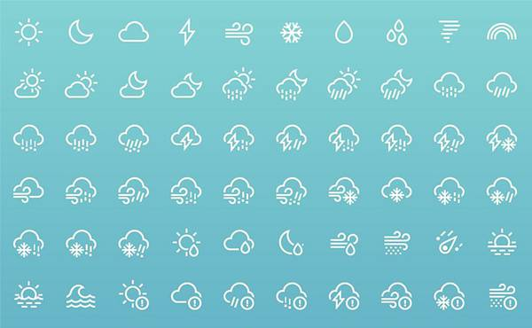 Weather icons - Behance