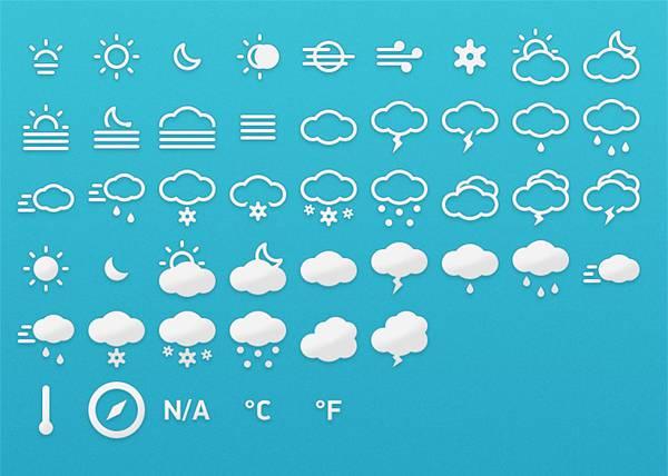 Meteocons - 40+ Weather Icons Free