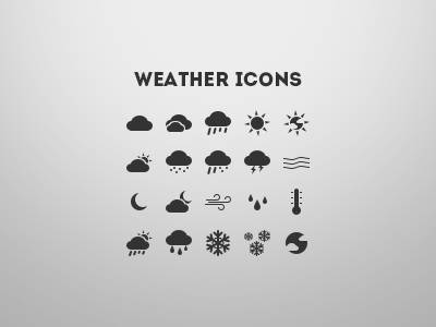 Dribbble - Weather Icons by Silviu Stefu