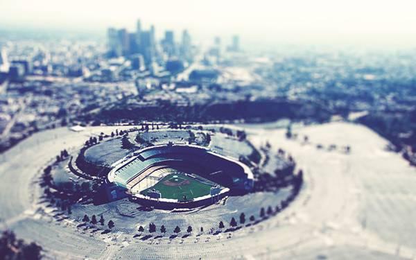 04.野球場を空撮した綺麗な写真壁紙画像
