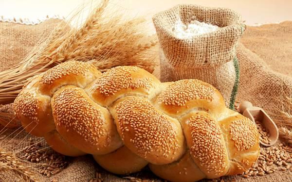 07.小麦粉やパンと小麦を撮影した綺麗な写真壁紙画像