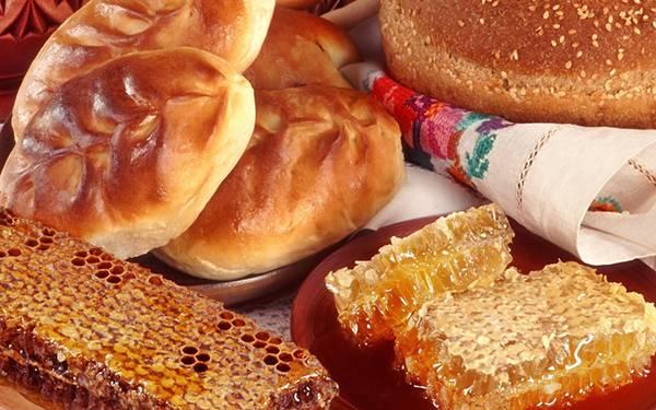 08.パンやハチミツを撮影した綺麗な写真壁紙画像