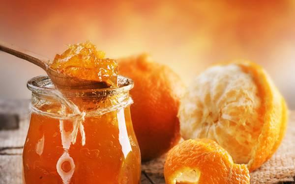 01.オレンジとオレンジジャムを撮影した綺麗な写真壁紙画像