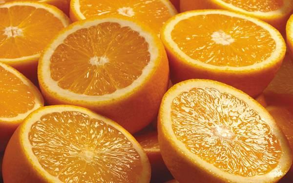 06.切ったオレンジをたくさん並べて撮影した綺麗な写真壁紙画像