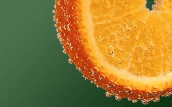 07.絞ったオレンジと雫を撮影した爽やかな写真壁紙画像
