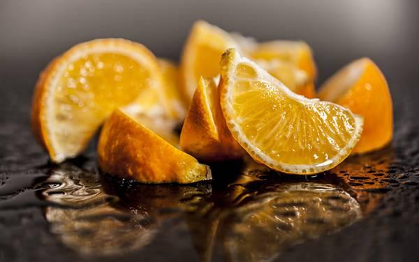 08.たくさんのカットオレンジを撮影した写真壁紙画像