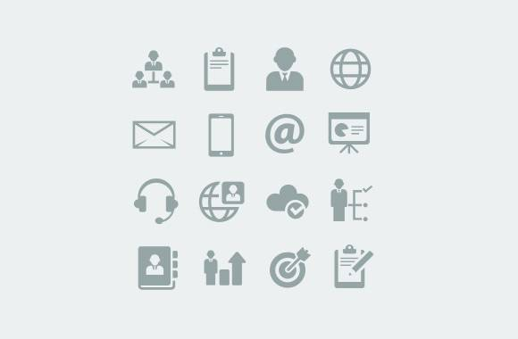 Clean Business Icons Set 1