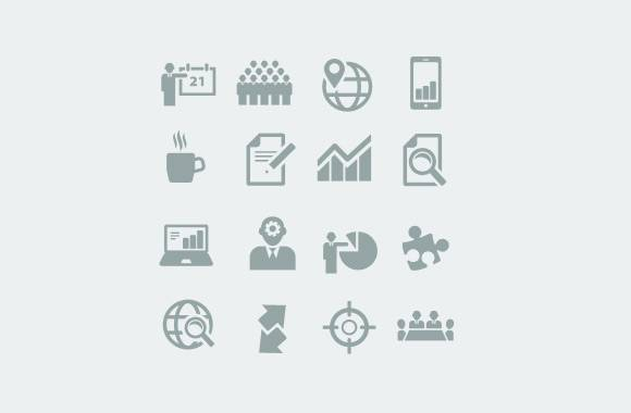Clean Business Icons Set 2