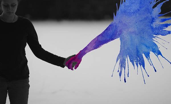 飛び散る水彩塗料が作り出すシュールな世界!美しいセルフポートレート写真作品 - 06