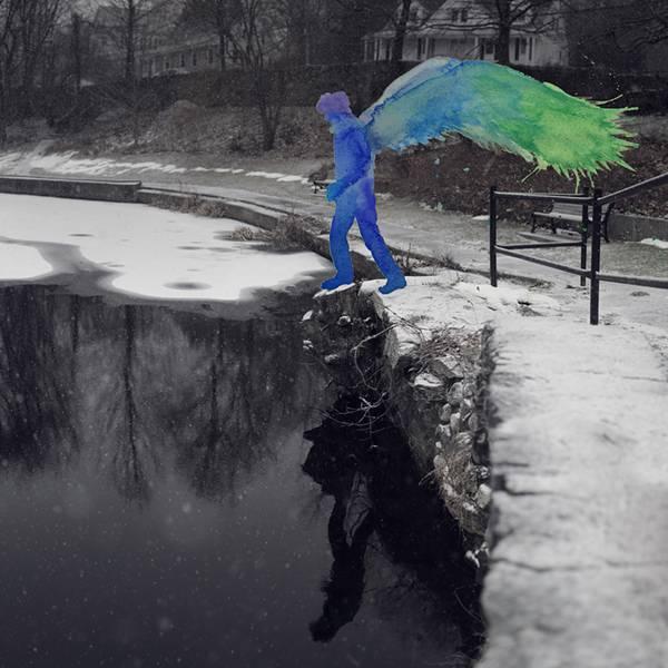 飛び散る水彩塗料が作り出すシュールな世界!美しいセルフポートレート写真作品 - 07