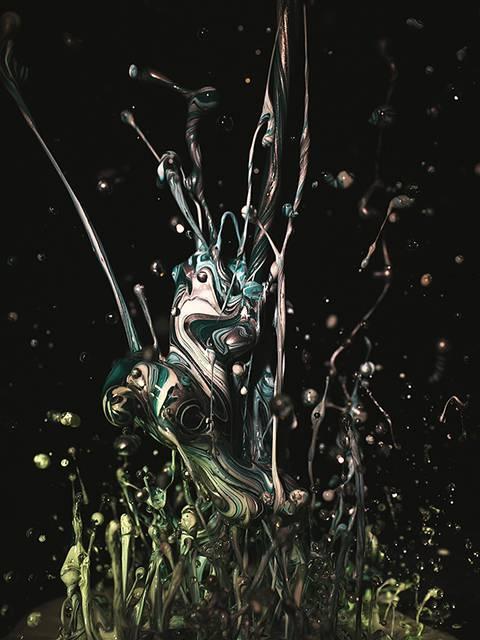 まさに音が作り出す一瞬の造形美!土佐尚子さんが作り出す「音の生花」 - 02
