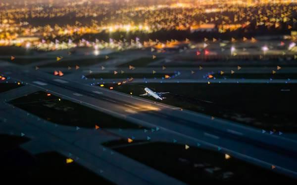 03.滑走路から飛び立つ瞬間の旅客機を撮影した綺麗な写真壁紙画像