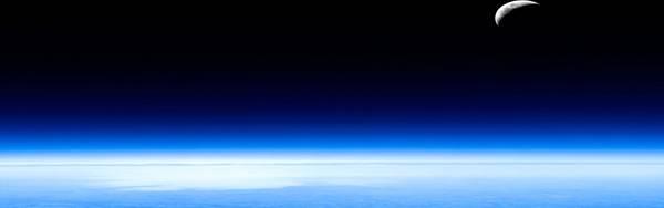 03.一面のブルーが綺麗な宇宙のイラスト壁紙画像