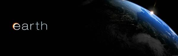 05.「earth」の文字と地球を描いた美しいイラスト壁紙画像