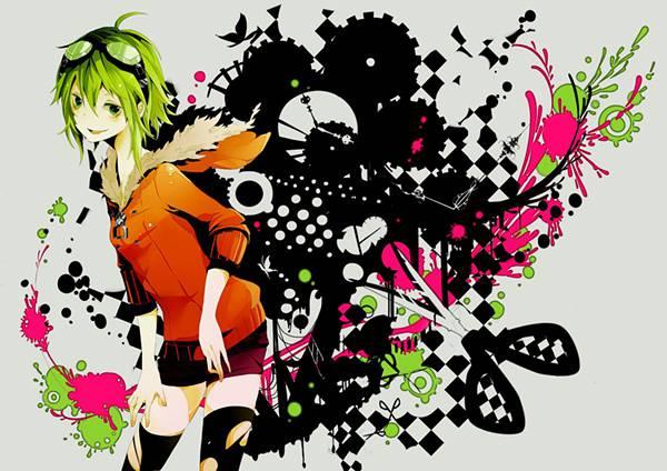 06.ポップなデザインでGUMIを描いたかっこいいイラスト壁紙画像