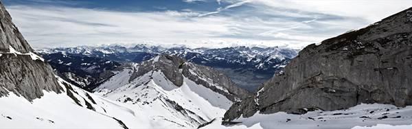 07.一面に広がる雪山の絶景を撮影した綺麗な写真壁紙画像