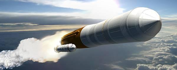 10.まっすぐ突き進むロケットをリアルに描いたイラスト壁紙画像