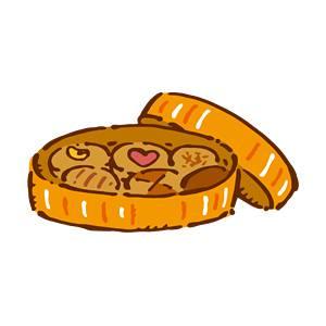 缶入りクッキー の無料イラスト