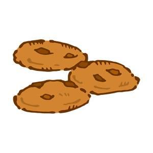 チョコチップクッキー の無料イラスト