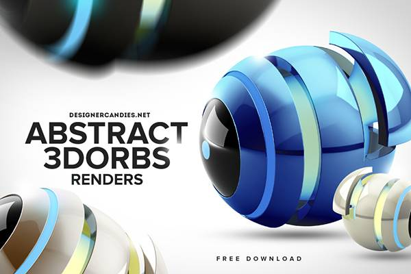 Free Abstract Orbs Render Pack