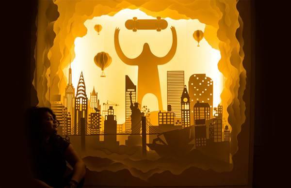 幾層にも切り出した紙に光を当てて作り出す、幻想的なペーパーアート作品 - 04