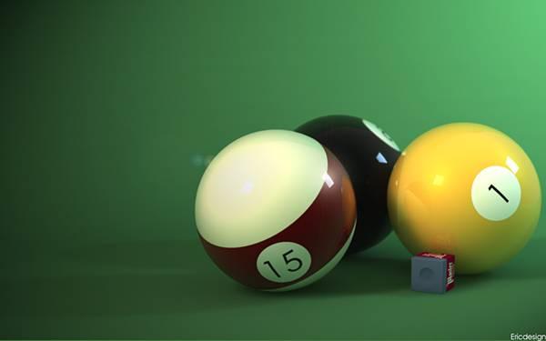 07.ビリヤードボールとチョークをアップで撮影した写真壁紙画像