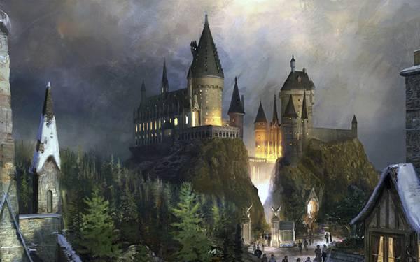 11.お城と城下町を描いた綺麗なイラスト壁紙画像
