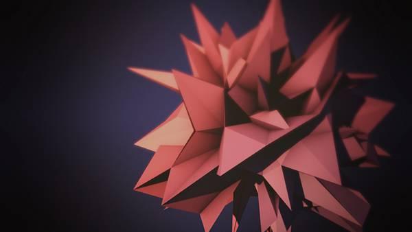 02.赤いトゲのある物体をCGでデザインデジタルアートワーク壁紙画像