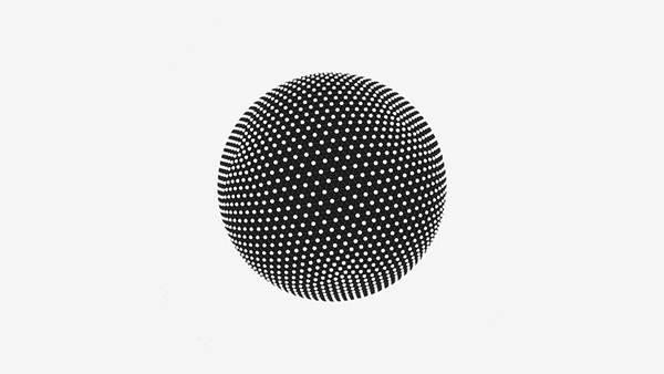 08.ドットの集合で出来た球体をデザインクールなイラスト壁紙画像