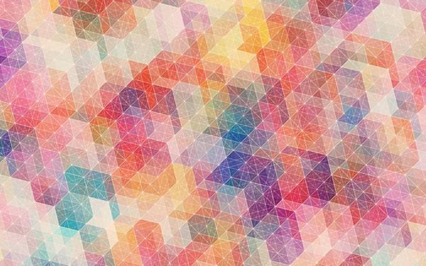 09.カラフルで綺麗な多角形の集合のイラスト壁紙画像