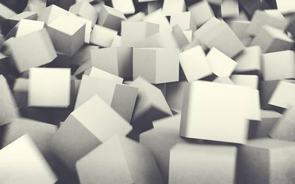 10.たくさん積み重なった白いキューブのクールな壁紙画像