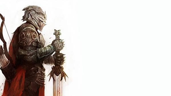 02.大剣と弓を持った騎士のかっこいいイラスト壁紙画像