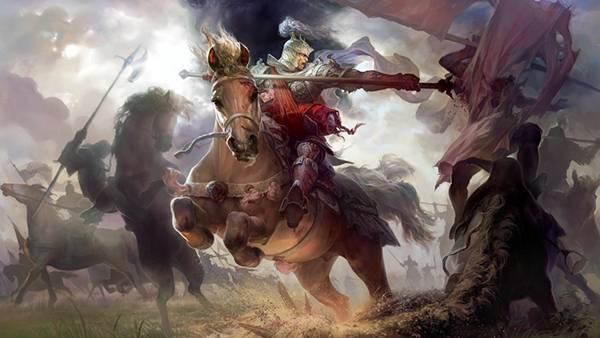 10.馬に乗って戦う騎士を描いたかっこいいイラスト壁紙画像