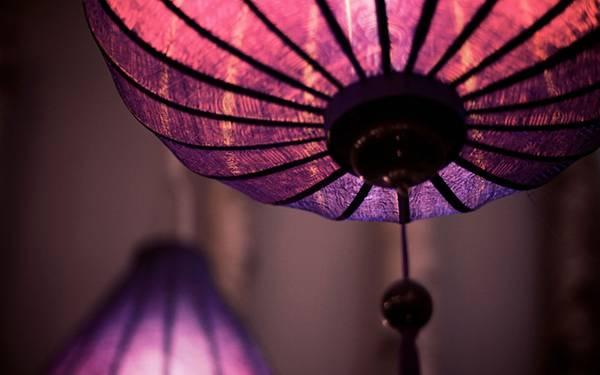 03.紫色の提灯をアップで撮影した美しい写真壁紙画像