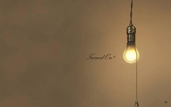 05.アンティーク調の電球をデザインしたおしゃれなイラスト壁紙画像