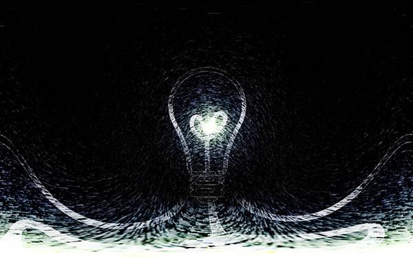 11.電球をスケッチ風の細かいラインでデザインしたイラスト壁紙画像
