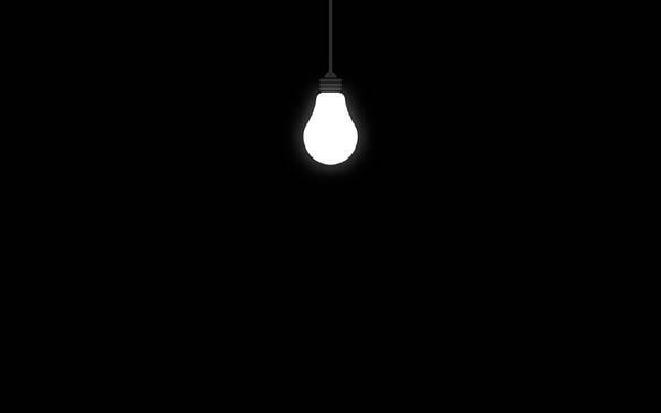 12.天井から吊るされた電球をデザインしたシンプルなイラスト壁紙画像