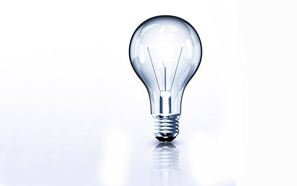 電球のモノクロ・白黒写真の壁紙