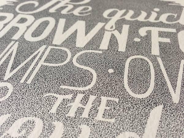 機械のような正確さ!ペン一本で制作された点描画タイポグラフィーイラスト - 08