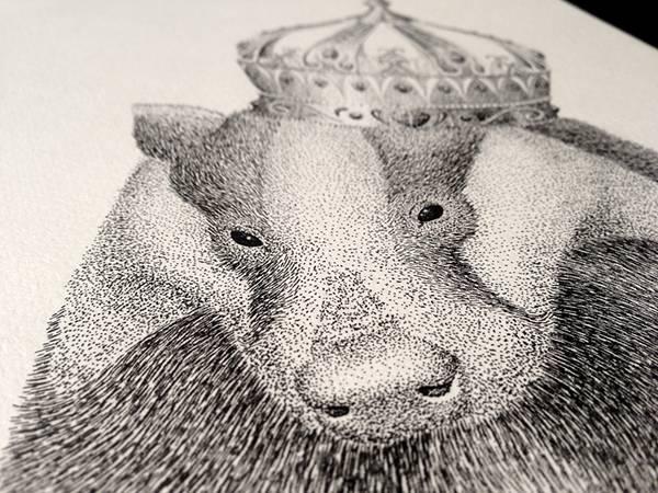 機械のような正確さ!ペン一本で制作された点描画タイポグラフィーイラスト - 12