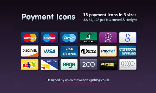 Free PNG Credit Card, Debit Card and Payment Icons Set