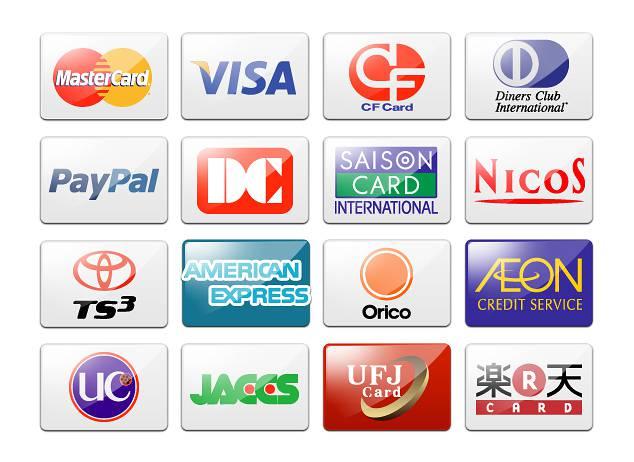日本のクレジットカードフリー素材