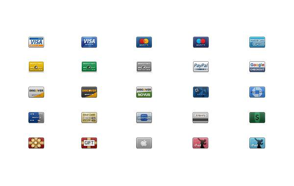 Credit Card Icon Pack