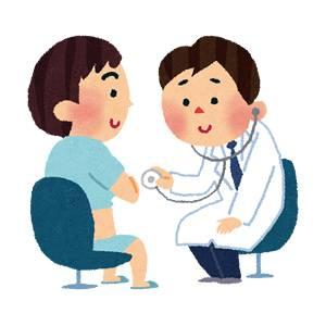 聴診器と医者のイラスト(健康診断)